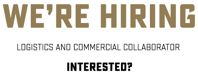 We're hiring: Logistics and Commercial collaborator. INTERESTED?